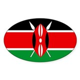 """Kenya Flag"" Oval Decal"
