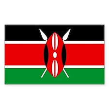 """Kenya Flag"" Rectangle Decal"