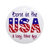 born in the USA Ornament (Round)