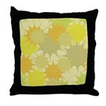Mod Stars Vintage Retro Throw Pillow