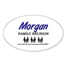 Morgan Family Reunion Oval Decal