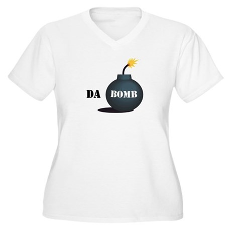 Da Bomb Women's Plus Size V-Neck T-Shirt