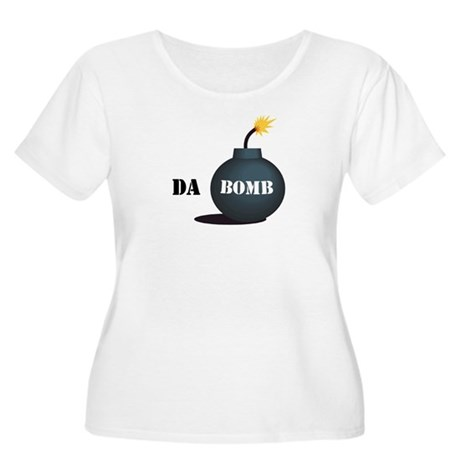 Da Bomb Women's Plus Size Scoop Neck T-Shirt