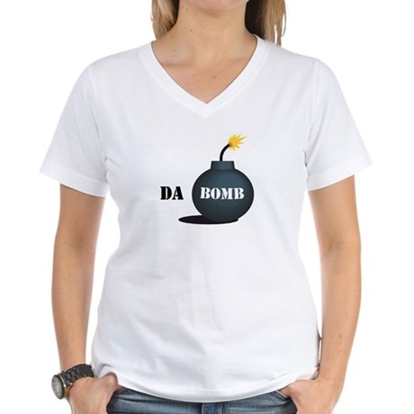 Da Bomb Women's V-Neck T-Shirt
