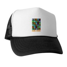 Pop Art Karl Marx Trucker Hat
