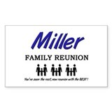 Miller Family Reunion Rectangle Decal