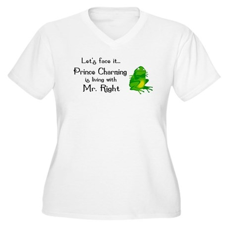 Prince Charming Women's Plus Size V-Neck T-Shirt