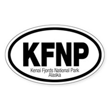 Kenai Fjords National Park Oval Decal