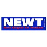 Newt Gingrich For President Bumper Bumper Sticker