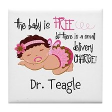 Personalized Funny Gynecologists Tile Coaster