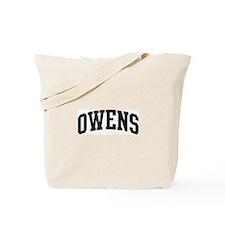 OWENS (curve-black) Tote Bag