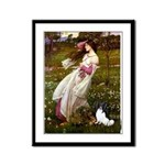 Windflowers & Papillon Framed Panel Print
