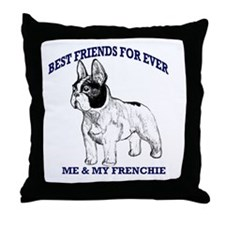 Unique French bulldog terrier Throw Pillow