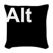 Alt Black Woven Throw Pillow