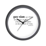 Gaysian definition Wall Clock