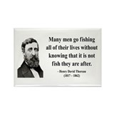 Henry David Thoreau 22 Rectangle Magnet