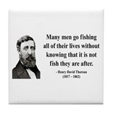 Henry David Thoreau 22 Tile Coaster