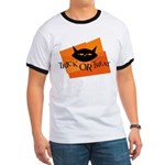 Trick or Treat Kitty Ringer T