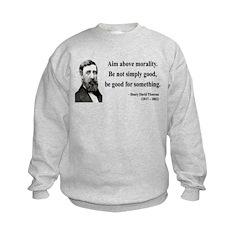 Henry David Thoreau 23 Kids Sweatshirt