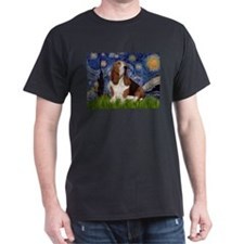 Starry Night Basset T-Shirt