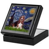 Starry Night Basset Keepsake Box