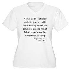 Henry David Thoreau 24 Women's Plus Size V-Neck T-