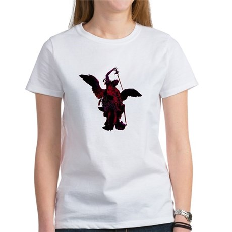 Powerful Angel - Red Women's T-Shirt