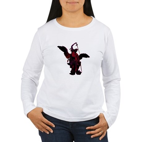 Powerful Angel - Red Women's Long Sleeve T-Shirt