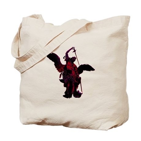 Powerful Angel - Red Tote Bag