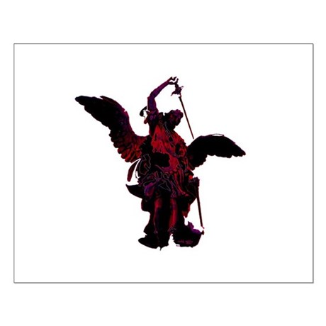 Powerful Angel - Red Small Poster