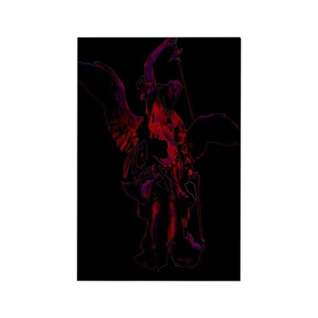 Powerful Angel - Red Rectangle Magnet