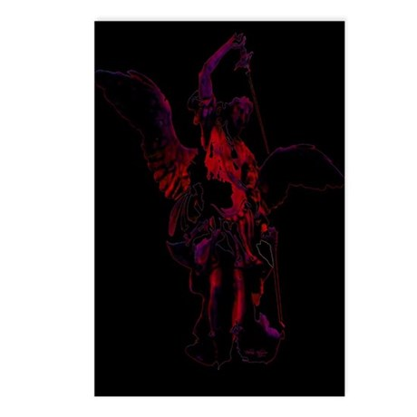 Powerful Angel - Red Postcards (Package of 8)