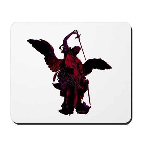 Powerful Angel - Red Mousepad
