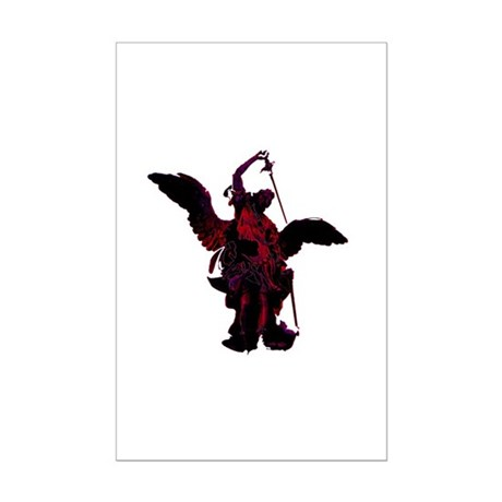Powerful Angel - Red Mini Poster Print