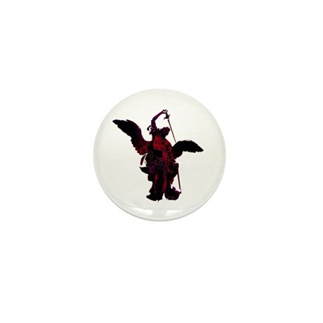 Powerful Angel - Red Mini Button