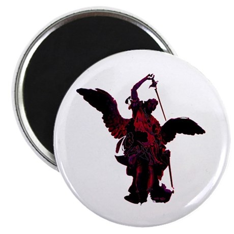 "Powerful Angel - Red 2.25"" Magnet (100 pack)"