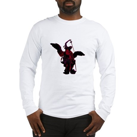 Powerful Angel - Red Long Sleeve T-Shirt