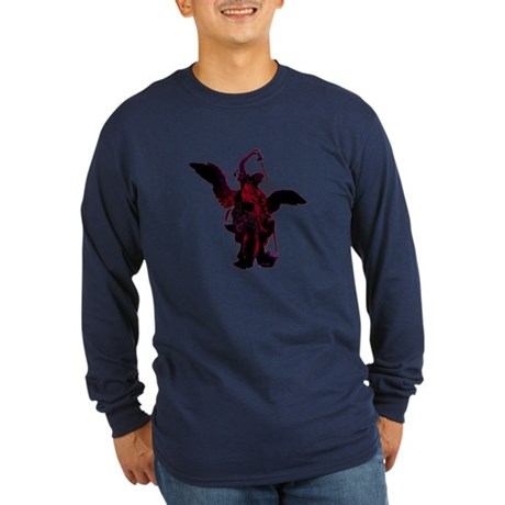 Powerful Angel - Red Long Sleeve Dark T-Shirt