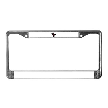 Powerful Angel - Red License Plate Frame