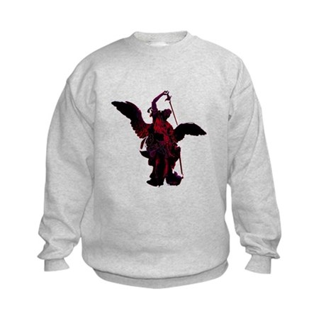 Powerful Angel - Red Kids Sweatshirt