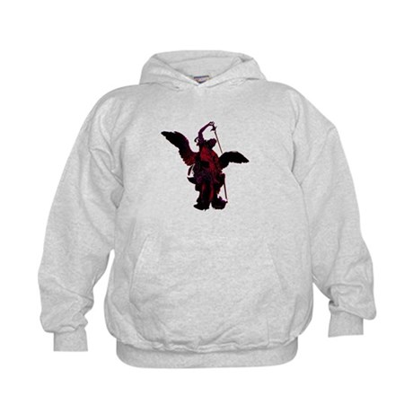 Powerful Angel - Red Kids Hoodie