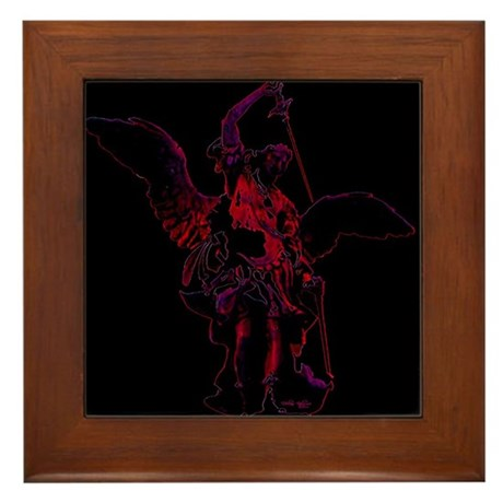 Powerful Angel - Red Framed Tile