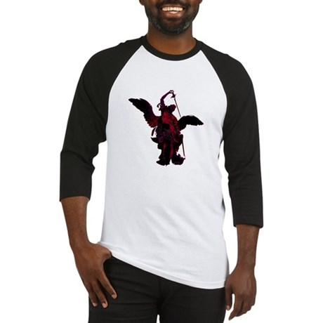 Powerful Angel - Red Baseball Jersey