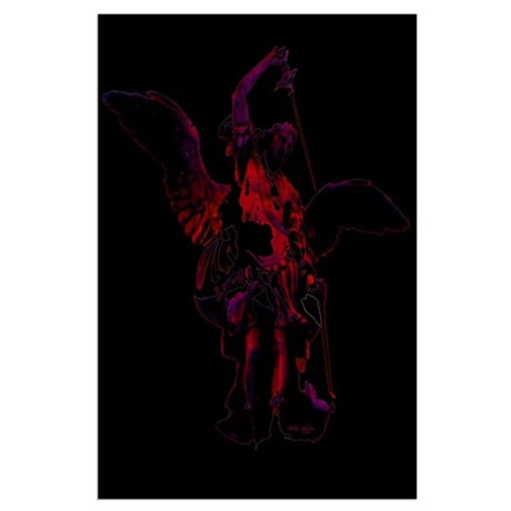 Powerful Angel - Red Large Poster