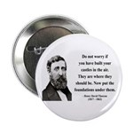"Henry David Thoreau 25 2.25"" Button (100 pack"