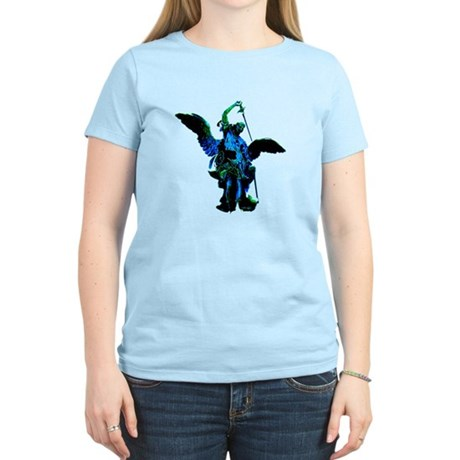 Powerful Angel - Blue Women's Light T-Shirt