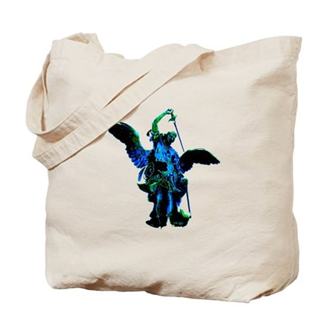 Powerful Angel - Blue Tote Bag