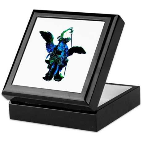 Powerful Angel - Blue Keepsake Box