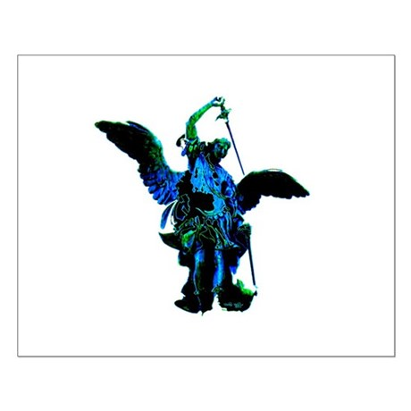 Powerful Angel - Blue Small Poster