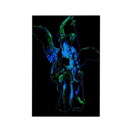 Powerful Angel - Blue Rectangle Magnet (100 pack)
